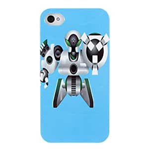 LIMME- High-Class Robot Pattern ABS Back Case for iPhone 4/4S