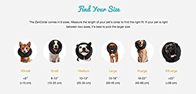 ZenPet ProCollar Pet E-Collar for Dogs and Cats - Comfortable Recovery Collar is Inflatable and Does Not Block Vision from Nor Pac Pet Products