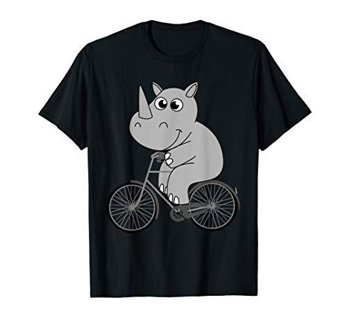 Cool Rhinoceros Riding A Bike | Funny Wild Animal Biker Gift T-Shirt