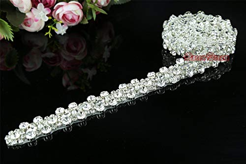 1 yard Rhinestone Applique Bridal Crystal Wedding Dress Belt Applique crystal applique for DIY Birdal Sash Wedding Dress