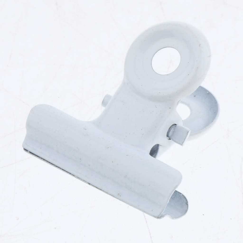 blanc-38mm Homyl 20pcs Clips de Bouledogue en M/étal de Haute Qualit/é Respectueux de lenvironnement et dune Duret/é /Élev/ée