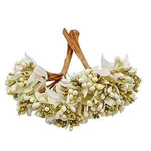 Get-in 12PCS/lot Mulberry Party Artificial Flower Stamen Wire stem Marriage Leaves Stamen DIY Wreath Wedding Box Decoration Artificial Flower 82