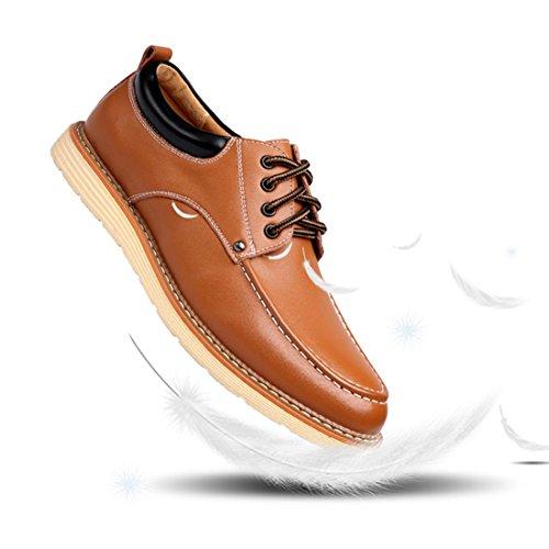 O & N Chaussures Modernes Oxford À Lacets Marron