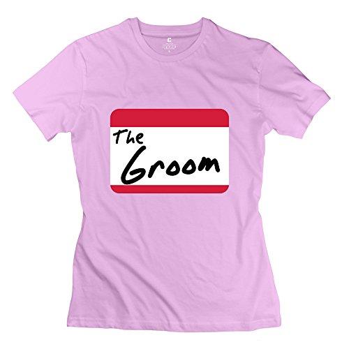 GLYCWH Women's Groom T-Shirt Pink US Size XXL Funny