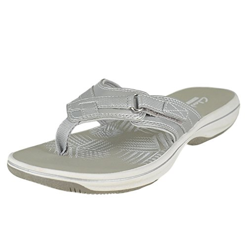 1f4234b9ad38 Galleon - Clarks Women s Breeze Sea Flip Flop