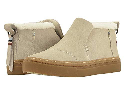 TOMS Women's Paxton Water-Resistant Slip-Ons Birch Suede/Faux Fur 7 B US