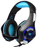 DIZA100 PS4 Gaming Headset with Microphone for PlayStation 4, Xbox one,PC-Blue
