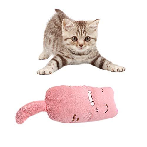 Shirazawa Plush Cat Toy, Chewing Teeth Clean Grinding Creative Pillow Scratch Pet Chew Toys Interactive -
