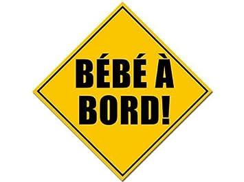 Amazon.com: Bebe a Bord (Francés Baby on board) Seguridad ...