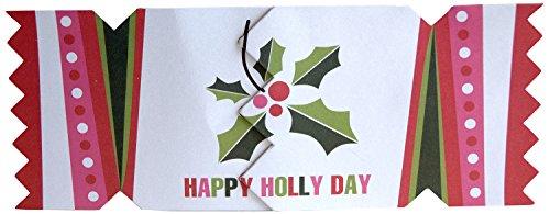 Cracker Cards Enchanted Stripe Holly Design Greeting Card