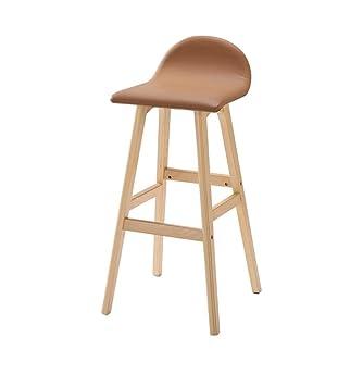 Sillas apilables Taburete antihumbo Silla, silla de madera maciza PU ...