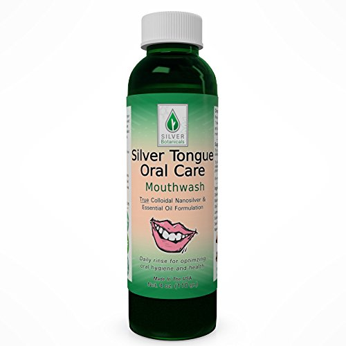 Silver Tongue Oral Care - All Natural Colloidal Silver Mouthwash (4 oz.)