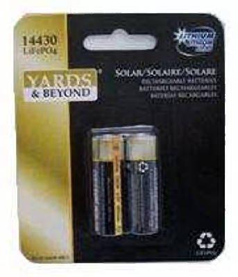 Jiawei Technology Ltd BT-LP-14430-400-2 Rechargeable Solar Battery Pack Of 2