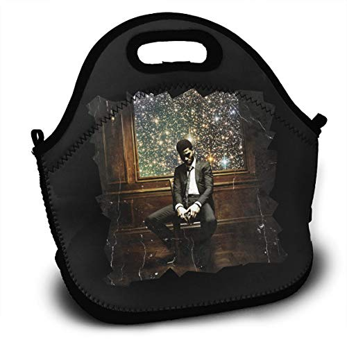Insulated Lunch Bag, Kid Cudi Man On The Moon II Reusable Lunch Box Food Container Organizer Handbags Tote with Zipper for Men Women Kids