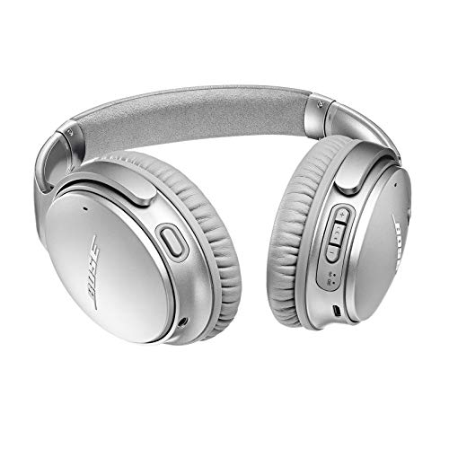 Bose QuietComfort 35 II Wireless Bluetooth Headphones, Noise-Cancelling, with Alexa voice control, enabled with Bose AR – Silver