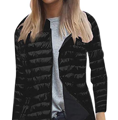 Zip Quilted Fit Full Women Relaxed Howme Warm Black Jacket Winter Hooded xnwUq8H8X