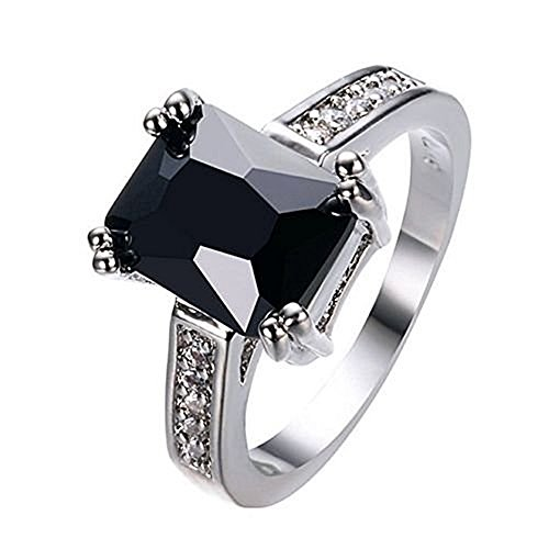 khime Charming Women 925 Silver Black Onyx Ring WeddingEngagement Jewelry Size 5-12 by - Onyx Charming