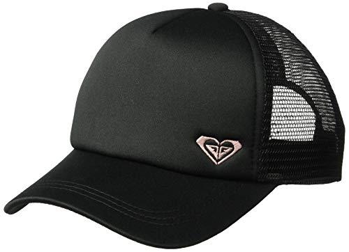 Womens Trucker Hat (Roxy Women's Finishline Trucker Hat, True Black/Tropical Peach,)