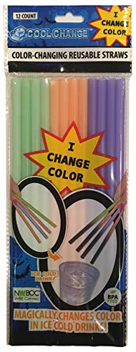 Halloween Trick or Treat Color Change Straws -