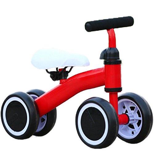 Kool KiDz Mini Bike Kids Trike Learn Motor skills Balance Bike 19inch Toddler Tricycle For Kids 1-3 Years Old (Mini Red Tricycle)