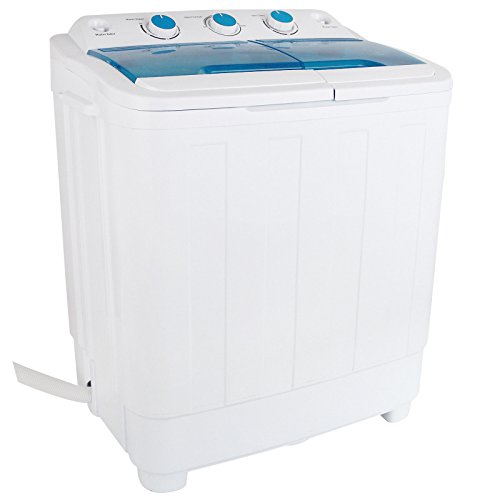 Lotus Analin 17LBS Mini Compact Portable Washing Machine Twin Tub Laundry Washer Spin Dryer