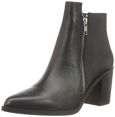 black 1 Nappa 15b66 Stivali Leather Con Buffalo Donna 01 Nero Imbottitura Leggera Bassi AqnP5w
