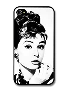 AMAF ? Accessories Audrey Hepburn Grayscale iPhone 4 4s Case