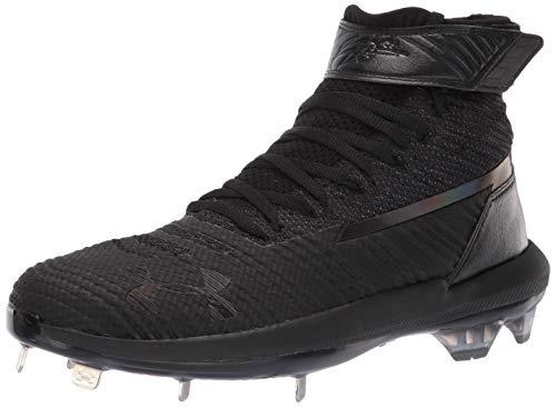 Under Armour Men's Harper 3 Mid ST Metal Baseball Shoe, (001)/Black, ()