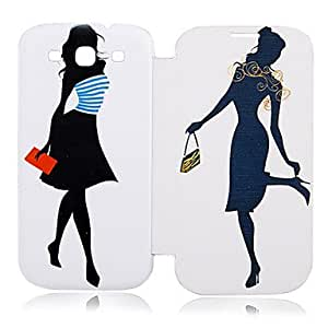 PEACH-Fashion Girl Leather Case for Samsung Galaxy S3 I9300