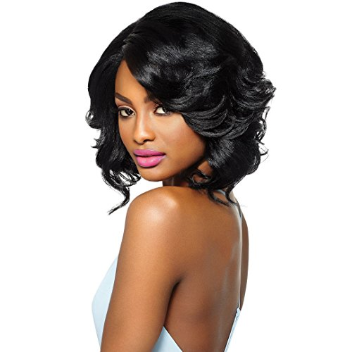 Outre Synthetic Hair Lace Front Wig Swiss Lace L Part Keri (1B)