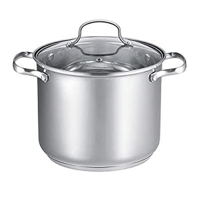 All Stainless Steel 12-quart Covered Stock Pot