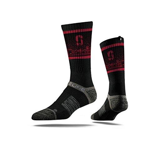 Strideline Ncaa Stanford Cardinal Premium Athletic Crew Socks  Black  One Size