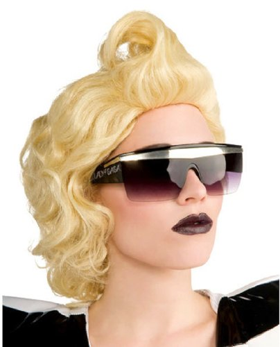 [Lady Gaga Glasses,Black,One Size] (Holloween Spirits Costumes)