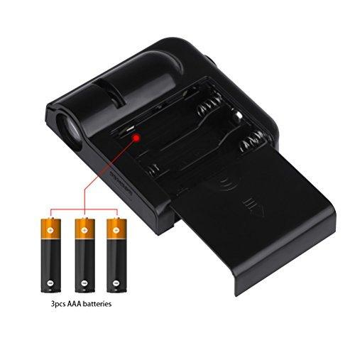 Black Sunsbell Bat Door Light Wireless Car Door LED Projector Light Battery Powered Courtesy Welcome Logo Shadow Ghost Light 2pcs