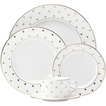 kate spade new york Larabee Road Gold Dinnerware 5-Piece Place Setting  sc 1 st  Amazon.com & Amazon.com | kate spade new york Larabee Road Gold Dinnerware 5 ...