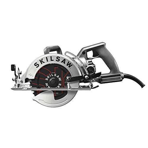 (SKILSAW SPT77W-RT 7-1/4 in. Aluminum Worm Drive Circular Saw with Carbide Blade (Renewed))