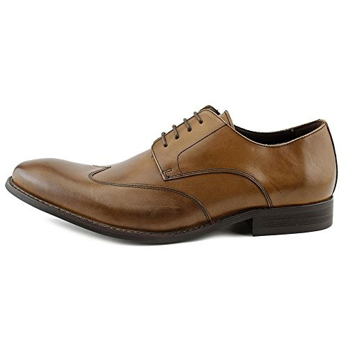 Kenneth Cole New York Mens Main Lane Wingtip Oxford Shoes, Cognac, US 13