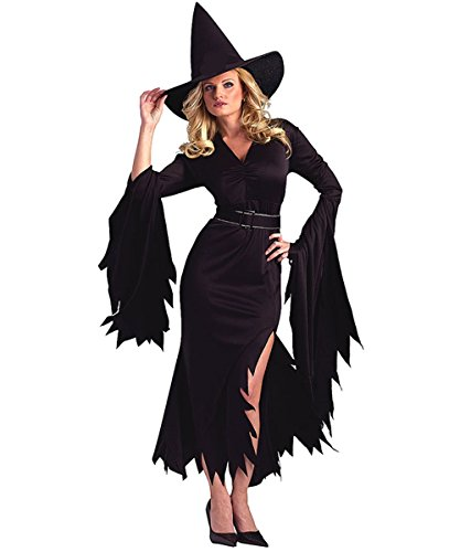 Halloween Witch Ghost Cosplay Costumes Sexy Magician Outfit For Women With Witch Hat - Witch Halloween Costumes Outfit