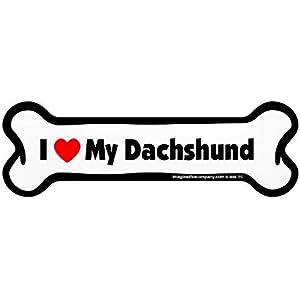 Imagine This Bone Car Magnet, I Love My Dachshund, 2-Inch by 7-Inch 16