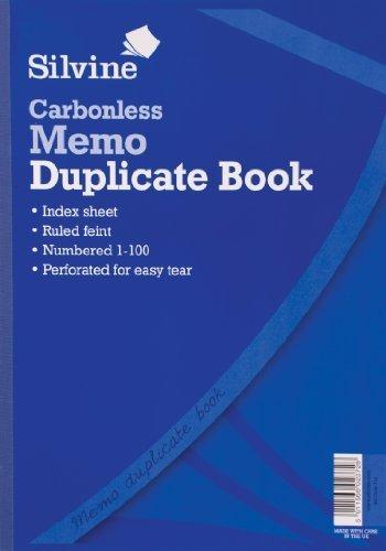 Silvine A4 Carbonless Duplicate Memo Book by Silvine