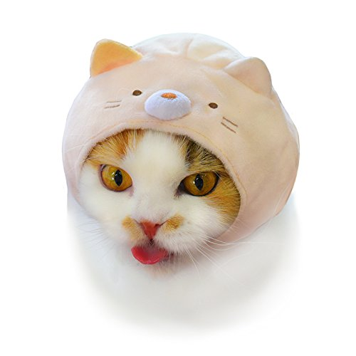 Pet Hat Blind Box Includes 1 of 6 Cute Styles Authentic Japanese Kawaii Design Soft Comfortable and Easy-to-Use Kitty Hood Kitan Club Cat Cap Animal-Safe Materials