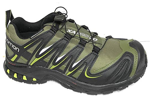 Salomon Men's XA Pro 3D CS Waterproof Trail Running Shoe,Iguana Green/Black/Seaweed Green,7 M US (Salomon Mens Xa Pro 3d Trail Running Shoe)