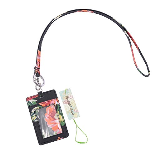 wonderful flower Id Case and Lanyard