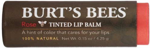 Burt's Bees Tinted Lip Balm, Rose, 0.15 Ounce (Pack of 2)