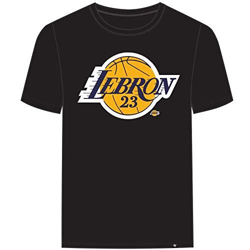 - '47' Men's Los Angeles Lakers Lebron James T Shirt (Black Purple, X-Large)