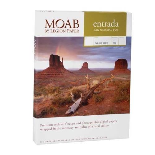 Moab Entrada Rag Fine Art, 2-Side Natural Matte Inkjet Paper, 15.5 mil., 190gsm, 5x7