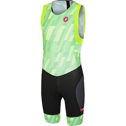 Castelli Short Distance Race Suit - Men's Pro Green/Black, M