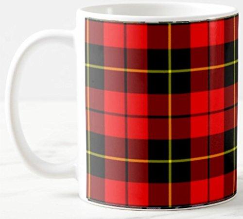 Scottish Clan Wallace Tartan on 11 Oz. Ceramic Coffee ()