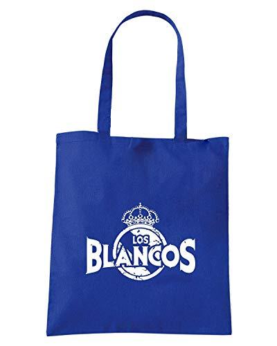 Royal BLANCOS Shopper Borsa MADRID WC0538 Blu REAL LOS 4U85qw