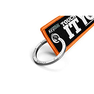 KEYTAILS Keychains, Premium Quality Key Tag for Motorcycle, Car, Scooter, ATV, UTV [Touch It You Die]: Automotive